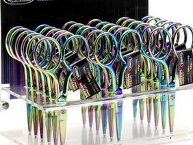 Rainbow Titanium Scissor Display